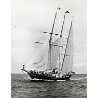 Photograph showing the sail training vessel Malcolm Miller