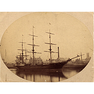 Sepia toned photograph of clipper Rifleman