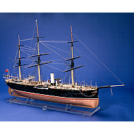 Jho Sho Maru - Barque Rigged Steam Gunboat built for Japan by Alexander Hall.  Commissioned by Thomas Glover