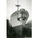 Black and White Photograph in album of 'Borre' fitting out