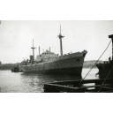 Black and White Photograph in album of coastal cargo vessel 'Barok'
