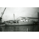 Black and White Photograph in album showing construction of 'Anno'