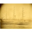 Black and white photograph showing sailing barque Inverurie at Aberdeen when new