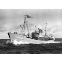 Black and white photograph showing the trawler Red Rose