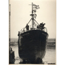 Star of Scotland (A442) black & white photograph of launch