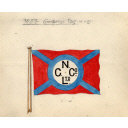House Flag For The Northern Co-Operative Society Ltd. For Use On The Collier 'thrift' Built In 1904