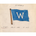 House Flag Of W. Wetherly For Use On The Steam Trawler Of The Same Name