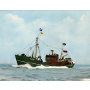 Hand-Coloured Photograph Of Glenisla A282, Trawler