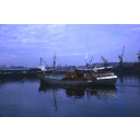 colour slide showing the trawler Ben Gairn in Aberdeen harbour