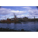 colour slide showing the trawler Ben Strome in Aberdeen harbour