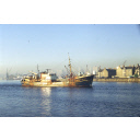 colour slide showing the trawler Seaward Venture in Aberdeen harbour