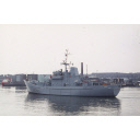 colour slide showing the patrol vessel HMS Jersey in Aberdeen harbour